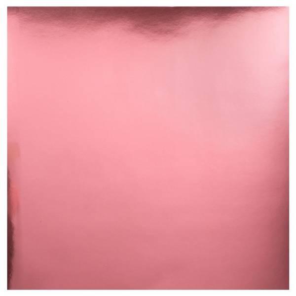 Bazzill - Foil Cardstock - 12x12 - 305094 - Light Pink