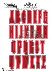 Bilde av Crealies - Dies - Alfies 3 - Capital letters and shadows