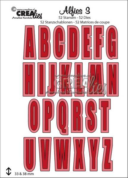 Crealies - Dies - Alfies 3 - Capital letters and shadows