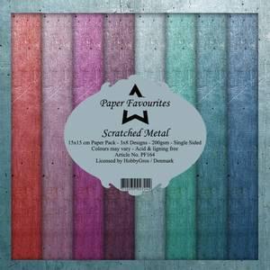 Bilde av Paper Favourites - 6x6 Paper Pad - PF164 - Scratched Metal