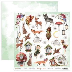 Bilde av ScrapBoys - Fairy Land - 12x12 - FALA-07 - Die Cut Sheet