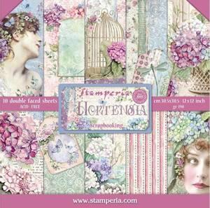 Bilde av Stamperia - 12x12 Paper Pack - 72 - Hortensia