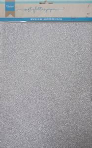 Bilde av Marianne Design - 3142 - Soft Glitter paper A4 - Silver - 5 pk