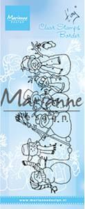 Bilde av Marianne Design - TC0869 - Clearstamp - Tiny's border Snowmen