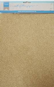 Bilde av Marianne Design - 3143 - Soft Glitter paper A4 - Gold - 5 pk
