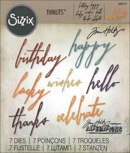 Bilde av Sizzix - Thinlits - 660215 - Tim Holtz - Handwritten Celebrate