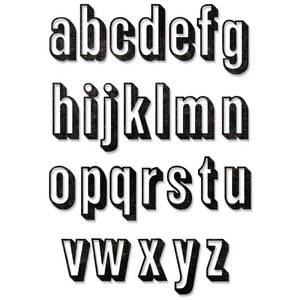 Bilde av Sizzix - Thinlits - 664728 - Alphanumeric Shadow Lower