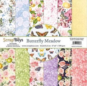 Bilde av ScrapBoys - Butterfly Meadow - 6x6 Paper Pad