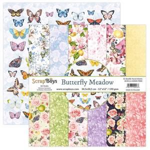 Bilde av ScrapBoys - Butterfly Meadow - 12x12 Paper Pack