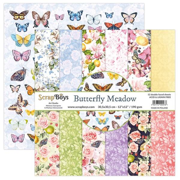 ScrapBoys - Butterfly Meadow - 12x12 Paper Pack
