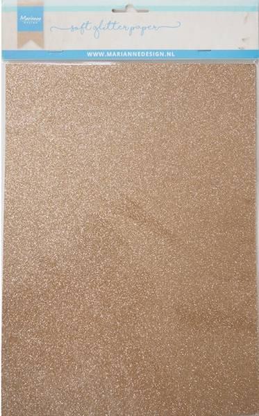 Marianne Design - 3145 - Soft Glitter paper A4 - Bronze - 5pk