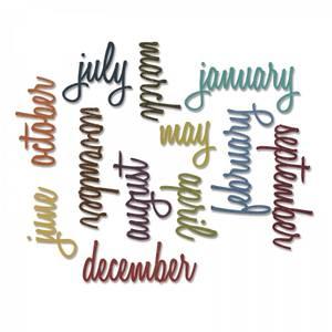 Bilde av Sizzix - Thinlits - 661179 - Tim Holtz - Calendar Words Script