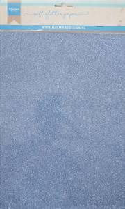 Bilde av Marianne Design - 3146 - Soft Glitter paper A4 - Blue - 5pk