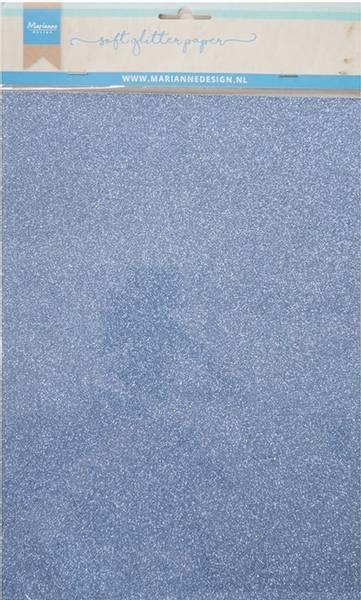 Marianne Design - 3146 - Soft Glitter paper A4 - Blue - 5pk