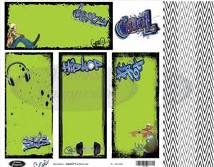 Bilde av Jorunns Scrapperier - JS21-003 - Ungdom - Grafitti 2 SlimLine