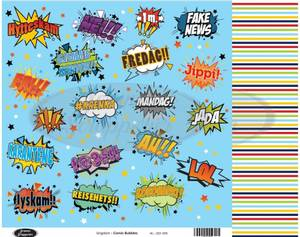Bilde av Jorunns Scrapperier - JS21-005 - Ungdom - Comic Bubbles