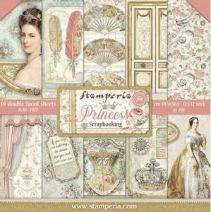 Bilde av Stamperia - 12x12 Paper Pack - 75 - Princess