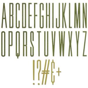 Bilde av Sizzix - Thinlits - 665206 - Alphanumeric Stretch Upper