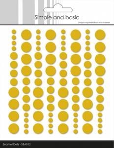 Bilde av Simple and Basic - SBA012 - Enamel Dots - Mustard