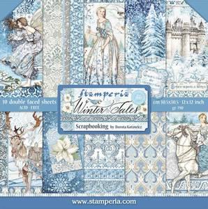 Bilde av Stamperia - 12x12 Paper Pack - 76 - Winter Tales