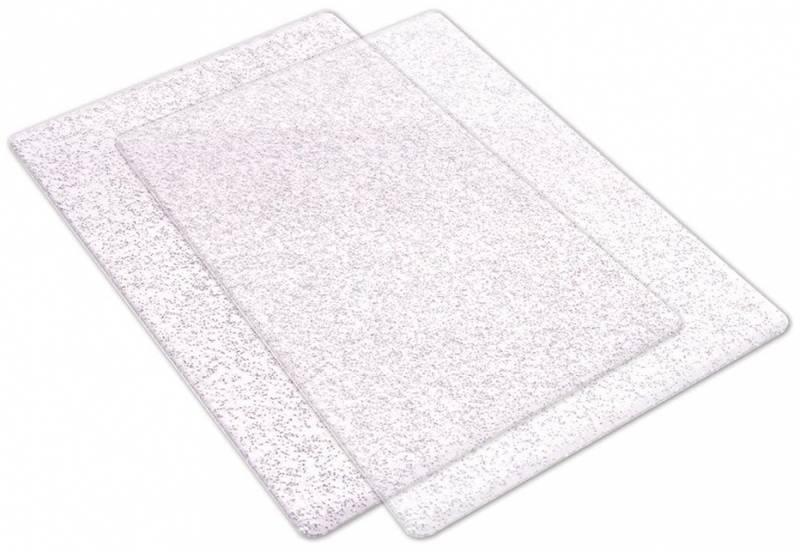 Sizzix - 662141 - Big Shot Cutting Pads 1 Pair - w/Silver Glitte