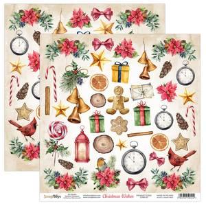 Bilde av ScrapBoys - Christmas Wishes - 12x12 - CHWI-07 - Die Cut Sheet