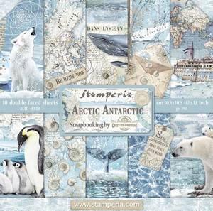 Bilde av Stamperia - 12x12 Paper Pack - 77 - Arctic Antarctic
