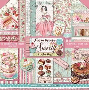Bilde av Stamperia - 12x12 Paper Pack - 78 - Sweety