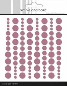 Bilde av Simple and Basic - SBA017 - Enamel Dots - Old Rose
