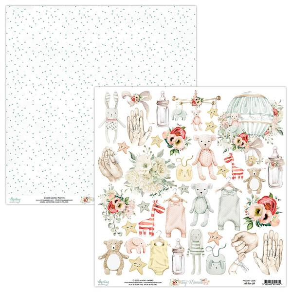 Mintay - TIN - 12x12 - Tiny Miracle - 09 Die Cut Sheet