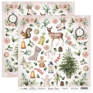 Bilde av ScrapBoys - Winter Time - 12x12 - WITI-07 - Die Cut Sheet