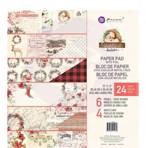 Bilde av Prima - 995270 - 12x12 Paper Pad - Christmas In The Country