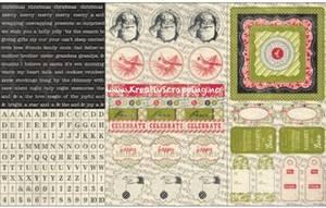 Bilde av Authentique - Cardstock Stickers - 8x12 - FES008 - FESTIVE