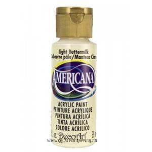 Bilde av Americana Acrylic Paint - Light Buttermilk - Semi-Opaque
