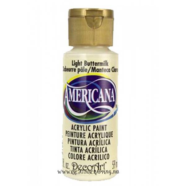 Americana Acrylic Paint - Light Buttermilk - Semi-Opaque