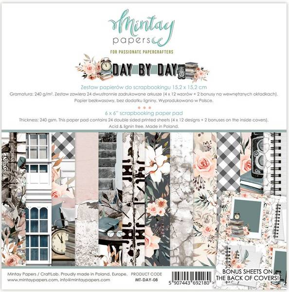 Mintay - DAY - 6x6 Paper Pad - Day by Day