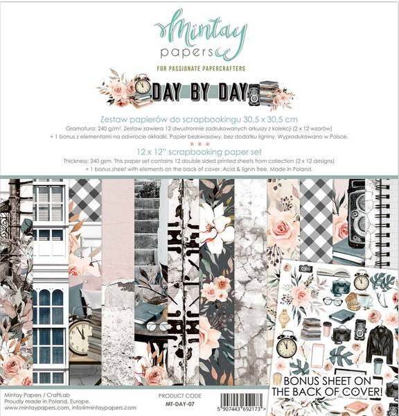 Mintay - DAY - 12x12 Paper Set - Day by Day