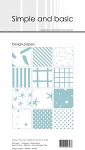Bilde av Simple and basic - Paper Pack - SBP902 - 10x21cm - Mint