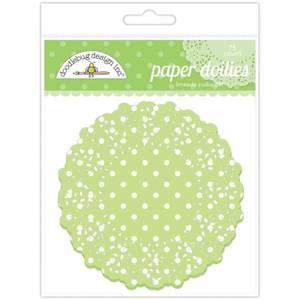 Bilde av Doodlebug Design - 4468 - Paper Doilies - Limeade Polka Dot