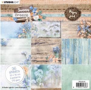 Bilde av Studiolight -  145 - PaperPad 15x15cm - PPSUB145 - Summer Breeze