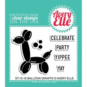 Bilde av AVERY ELLE 2X3 CLEAR STAMPS 1516 - BALLOON GIRAFFE