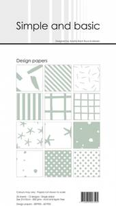 Bilde av Simple and basic - Paper Pack - SBP905 - 10x21cm - Sage (lys grø