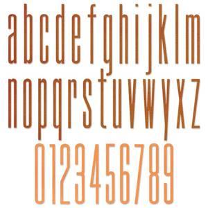 Bilde av Sizzix - Thinlits - 665207 - Alphanumeric Stretch Lower & Number