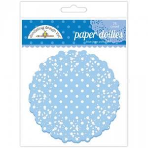 Bilde av Doodlebug Design - 4470 - Paper Doilies - Blue Jean Polka Dot