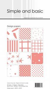 Bilde av Simple and basic - Paper Pack - SBP907 - 10x21cm - Fresh Peach