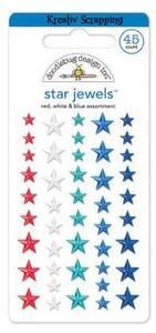 Bilde av DOODLEBUG - STAR JEWELS - RED WHITE BLUE