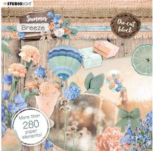 Bilde av Studiolight -   661 - Die Cut Book - Summer Breeze