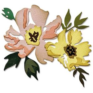 Bilde av Sizzix - Thinlits - 665209 - Brushstroke Flowers #1