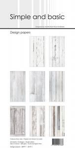 Bilde av Simple and basic - Paper Pack - SBP911 - 10x21cm - White Wood