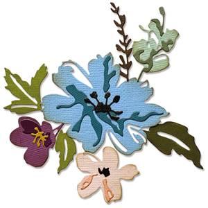 Bilde av Sizzix - Thinlits - 665210 - Brushstroke Flowers #2